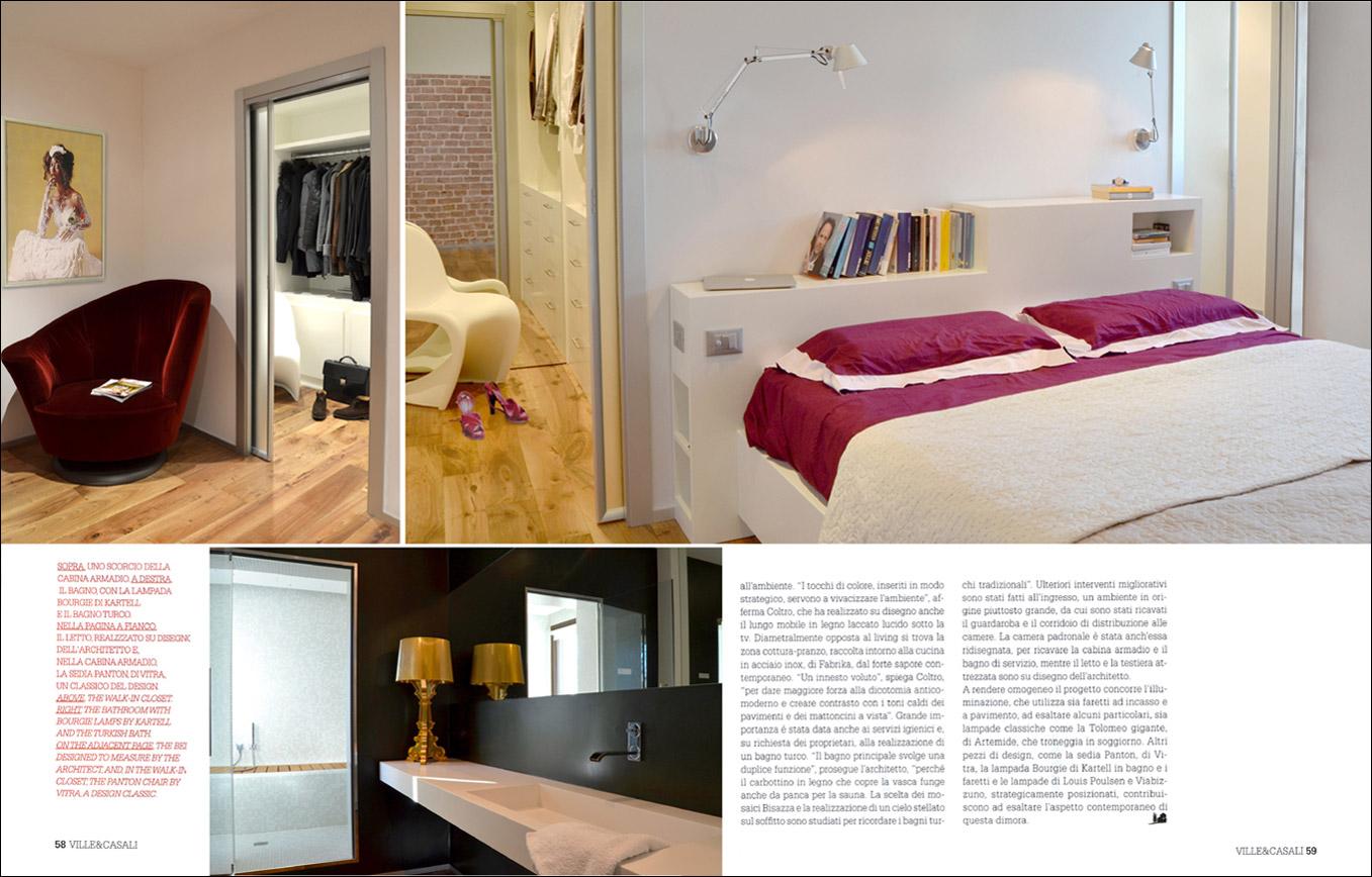 Letto Con Armadio Sopra work published in the magazines ville & casali n. 2